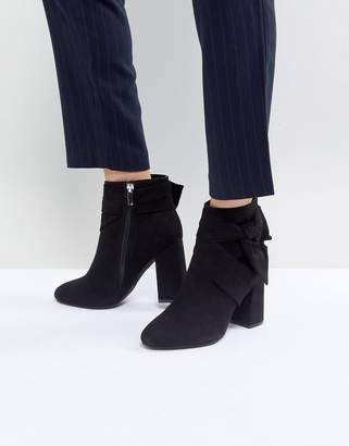 Forever New Ankle Boot With Bow Tie Side