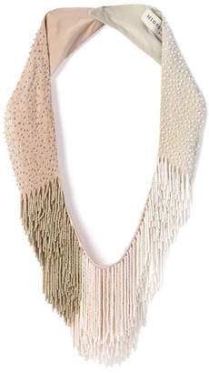 Mignonne Gavigan Petite Le Marcel Beaded Fringe Necklace, Light Pink