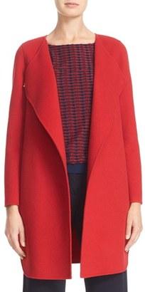 Women's Armani Collezioni Double Face Wool & Cashmere Coat $1,795 thestylecure.com