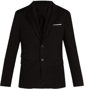 Neil Barrett Double Lapel Blazer - Mens - Black