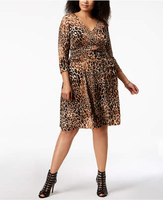 NY Collection Plus Size Animal-Print A-Line Dress
