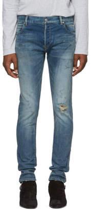 Balmain Blue Destroy Vintage Slim Jeans