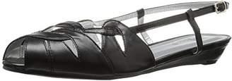 Annie Shoes Women's Kim Wide Calf Wedge Sandal $8.78 thestylecure.com