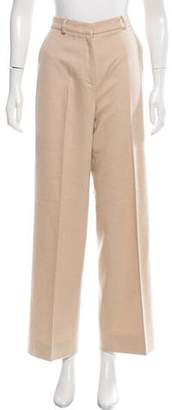 Michael Kors Camel Hair High-Rise Pants