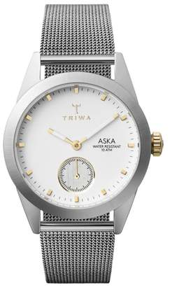 Triwa Snow Aska Mesh Strap Watch, 32mm