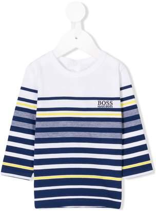 Boss Kids striped long-sleeved T-shirt