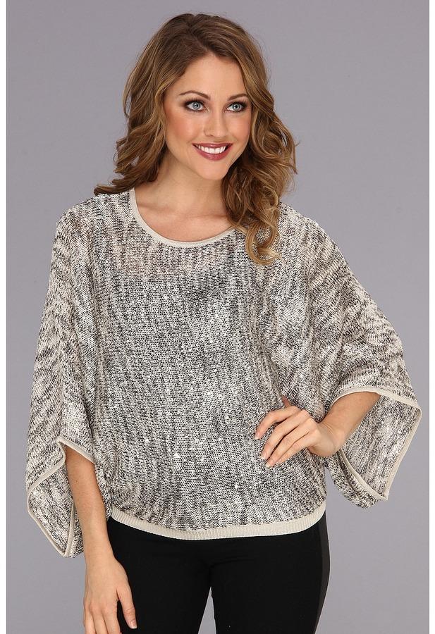 Karen Kane Pullover Space Dye Sweater (Gray) - Apparel