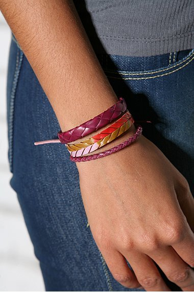 Leather Bracelets Set of 3