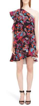 Givenchy Floral Print One-Shoulder Dress