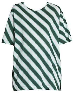 Dries Van Noten Women's Oversize Diagonal Stripe Tee