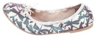 Bloch Girls' Printed Canvas Flats