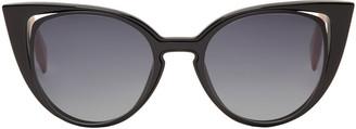 Fendi Black Cut-Out Cat-Eye Sunglasses $480 thestylecure.com