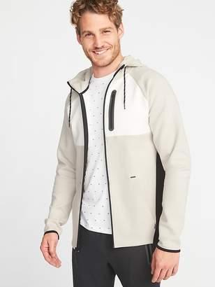 Old Navy Dynamic Fleece 4-Way-Stretch Color-Block Zip Hoodie for Men