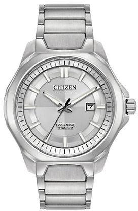 CitizenCitizen Ti+IP Eco-Drive Titanium Analog Tonal Dial Bracelet Watch