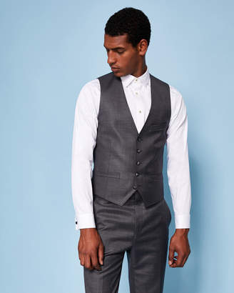 Ted Baker PITCHW Slim fit wool vest