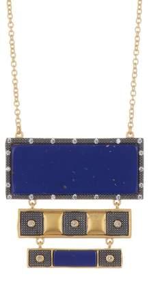 Freida Rothman Bricked Lapis Large Pendant Necklace