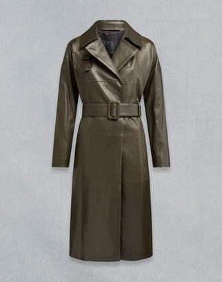 Belstaff Ellenboro Trench Coat Green