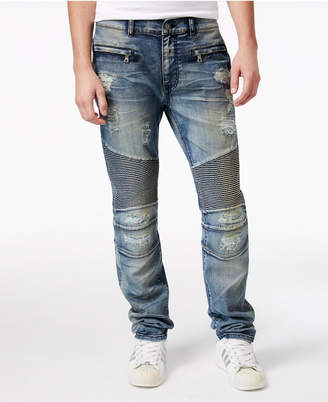 Reason Men's Causeway Slim-Fit Moto Jeans