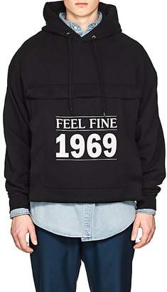 "Balenciaga Men's ""Feeling Fine 1969"" Cotton-Blend Fleece Hoodie"