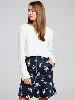 Portmans Australia Ruby Floral Sateen Skirt