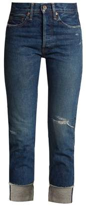 Chimala High-rise distressed jeans