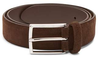 Andersons Anderson's - Suede Belt - Mens - Dark Brown