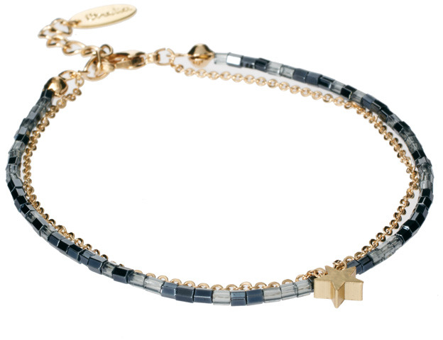 Orelia Star And Bead Chain Bracelet