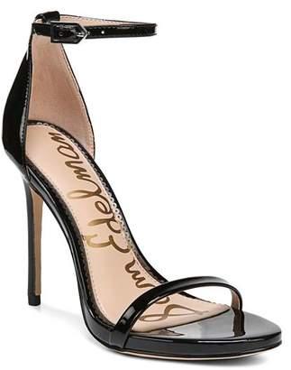 Sam Edelman Women's Ariella Patent Leather High-Heel Ankle Strap Sandals