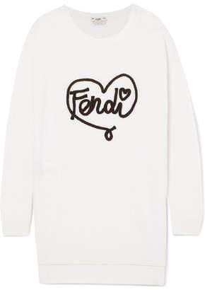Fendi Embroidered Cashmere Sweater - White