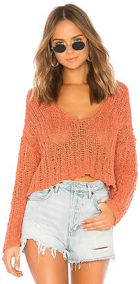 Free People Beach Comber V Neck Sweater