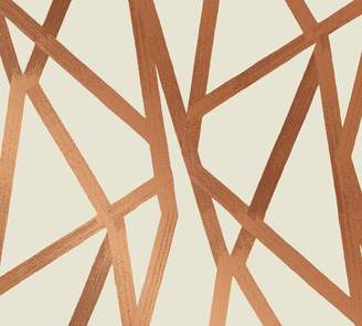Pottery Barn Intersections Urban Bronze Wallpaper Sample