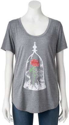 Disney's Beauty and the Beast Juniors' Enchanted Rose Graphic Tee $24 thestylecure.com
