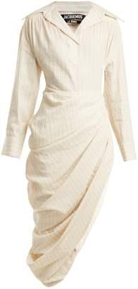 Jacquemus Draped linen-blend dress