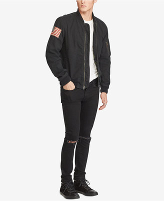 Denim & Supply Ralph Lauren Men's Slim Chino Twill Bomber Jacket $185 thestylecure.com