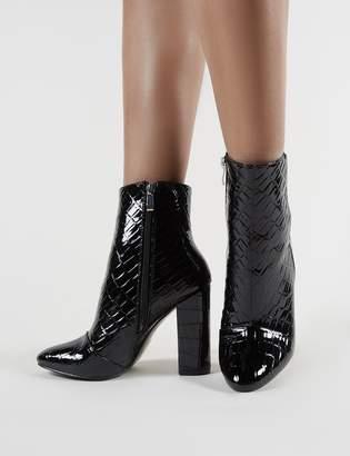 557b09c5d Public Desire Presley Ankle Boots Croc