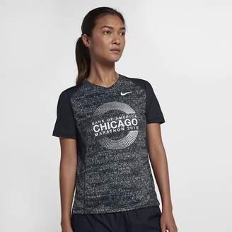 Nike Miler (Chicago 2018) Women's Short Sleeve Running Top