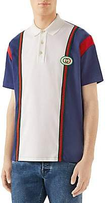 Gucci Men's Oversize-Fit Heavy Cotton Jersey Polo