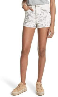 rag & bone\u002FJEAN Ellie Twill Shorts (Micro Floral)