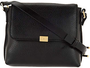 Halston H by Pebble Leather Crossbody Handbag