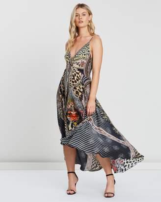 Camilla Tie Detail High Low Dress