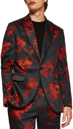 Topman Slim Fit Floral Suit Jacket
