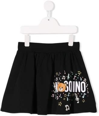 Moschino Kids musical notes skirt