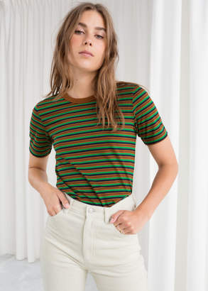 And other stories Cotton Striped Ringer Tee