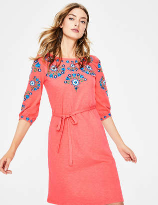 Boden Leyla Embroidered Jersey Dress