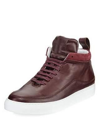Public School Men's Braeburn Leather High-Top Sneakers, Oxblood