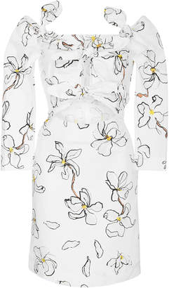 Isa Arfen Magnolia 4-Knot Stretch Cotton Mini Dress