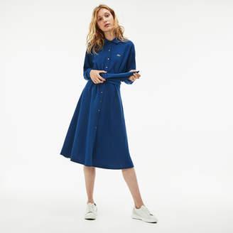 Lacoste (ラコステ) - 鹿の子地ロングシャツドレス