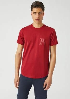 Emporio Armani T-Shirt In Mercerized Cotton Jersey With Logo