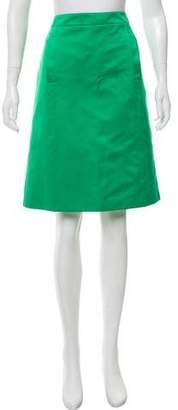 Bottega Veneta Satin A-Line Skirt w/ Tags