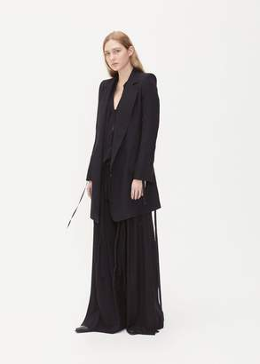 Ann Demeulemeester Single Closure Long Jacket